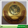 Gold Metal 3D Emblem for Hanging on The Wall