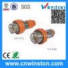 Three Phase 4 Round Pin Waterproof Straight Plug with CE