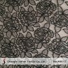 Jacquard Black Rose Lace Fabric (M0032)