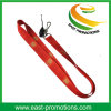 2017 Promotional Custom Silk Screen Printed Neck Lanyard with Mobile Strap