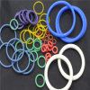 Blue High Temperature and Acid Resistant Fluorosilicone O Ring Seals