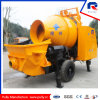 Movabletrailer Concrete Pump with 600L Hopper Drum Mixer