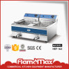 2-Tank 2-Basket Electric Fryer Make in Guangzhou (HEF-132)