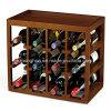 Easily Stackable 12 Bottle Wood Wine Storage Rack