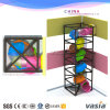 Galvanized Steel Pip Kids Play Game Spiral Slide Structure