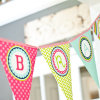 Customized Design Latest Fashionable Fabric Pennant Flags for Birthday Decoration