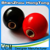 Red Ball Knob with Brass Insert