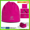 Megenta Fleece Winter Hat/Scarf Bn-2706