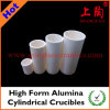High Form Alumina Cylindrical Crucibles