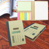 Hot Selling 8-Digit Solar Office Notebook Calculator with Pen for Promotion