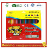 24 PCS Color Plstic Crayon with Sharpener and Eraser
