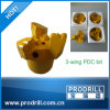 65mm-127mm 3-Wing PDC Bit for Water Well Drilling