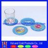 Liquid Filled Promotional Clear Soft PVC Coaster (flat design)