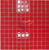 Red Color 4mm Thickness Glass Mosaic (CFC168)
