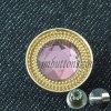 Pink Crystal Rhinestone Metal Button for Women Jeans
