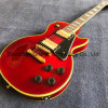 Lp Electric Guitar with Yellow Binding and Red Color (GLP-457)