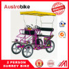 Bamboo Seat Four Wheel Quadricycle Surrey Sightseeing Bike From China Special Design
