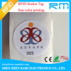 Ntag216 RFID Adhesive 25mm Sticker for Security Management