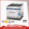 6 Burner Gas Range with Gas Oven for Commercial Kitchen Equipments (HGR-96G)