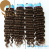 Curled Human Remy Hair Weft for Woman