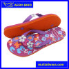PE Fashion Slipper with Flower Strap for Ladies (T1643-BLACK)