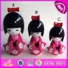 2015 New and Popular Wooden Kimono Dolls, Wooden Japanese Nesting Dolls in Bulk, Christmas Gift Cute Wooden Kimono Dolls W06D069b