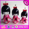 2015 New and Popular Wooden Kimono Dolls, Wooden Japanese Nesting Dolls in Bulk, Christmas Gift Cute Wooden Kimono Dolls W06D069b