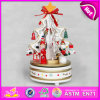 2015 Cheapest Wooden Rotating Music Box, Beautiful Rotating Wooden Music Toy, Wooden Christmas Gifts Rotating Music Box W07b008c