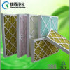 Paper Frame Pre Pleated Panel Air Filter with Wire Mesh
