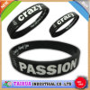 Customized Both Sides Usage Silicone Bracelet with Debossed & Print (TH-519)
