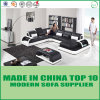 Modern Leisure Furniture Leather Corner Sofa with LED
