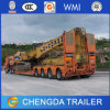 Heavy Loading 4 Axles Low Bed Semi Trailer Dimensions