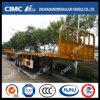 Cimc Huajun 40FT Flatbed Trailer with Twist Locks/Front Wall