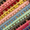 Colorful Right Angle Woolen Yarn Lace Trim