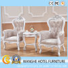 Luxury Leather White Leisure Indoor Chair with Crystal