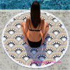 100% Cotton Round Printed Beach Towel with High Quality