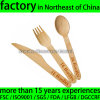 Custom Logo Carve Handle Wood Disposable Spoon Fork Knife Set