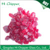 Crushed Red Glass Chips
