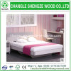 Wholesale Wood Grain Melaimine MDF Wooden Double Bed