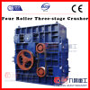 Mine Crusher for Hard Stones by Four Roller Three Stage Crusher