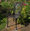 Outdoor Cast Metal Frame Dining Chair with Armrests