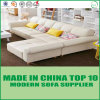 Modern Wooden Home Furniture Living Room Leather L Shape Sofa