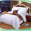 100% Cotton Satin Stripe Hotel Bed Sheet for 3 Star