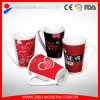 V Shape Mug with Love Designs	Coffee Mug