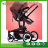 Certificated Red Leather Baby Stroller