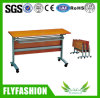 Wooden Furniture Folding Wooden Training Table with Wheels (SF-05F)