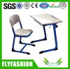 Hotsale Good Quality Commercial Classroom Furniture School Single Desk with Chair (SF-58S)