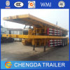 Utility Truck Trailer 40FT Gooseneck Flatbed Container Cargo Semi Trailer
