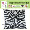Zebra Print Decorative Pillow in Black