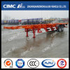 Cimc Huajun 40FT 2axle Skeletal Semi-Trailer with Floor